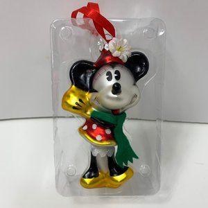 Disney Blown Glass Christmas Ornament Minnie